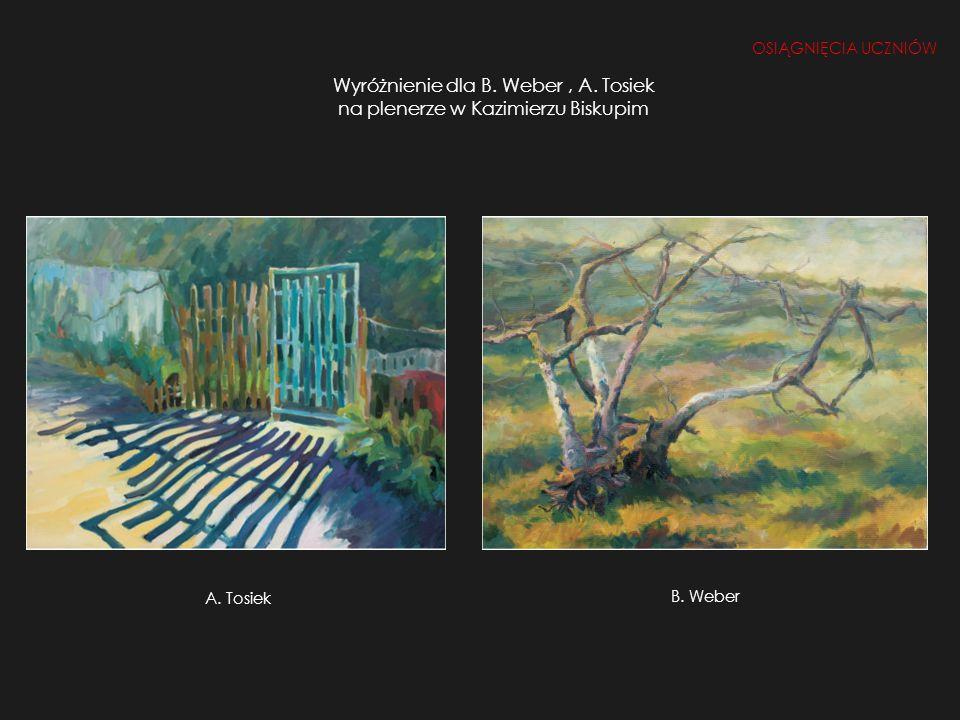 Wyróżnienie dla B. Weber , A. Tosiek na plenerze w Kazimierzu Biskupim