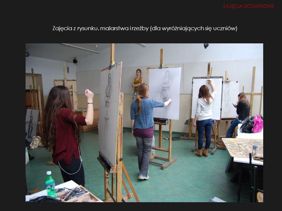 Zajęcia z rysunku, malarstwa i rzeźby (dla wyróżniających się uczniów)
