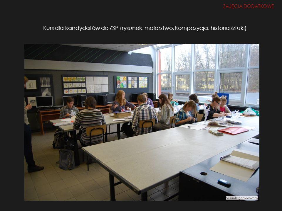 ZAJĘCIA DODATKOWE Kurs dla kandydatów do ZSP (rysunek, malarstwo, kompozycja, historia sztuki)