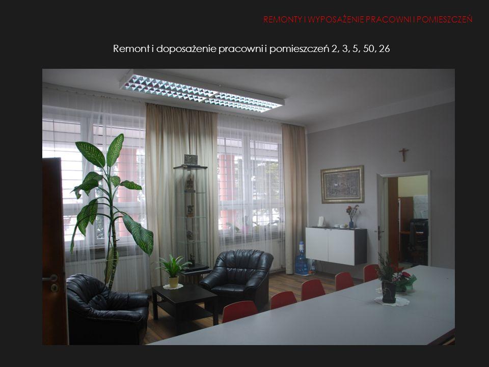Remont i doposażenie pracowni i pomieszczeń 2, 3, 5, 50, 26
