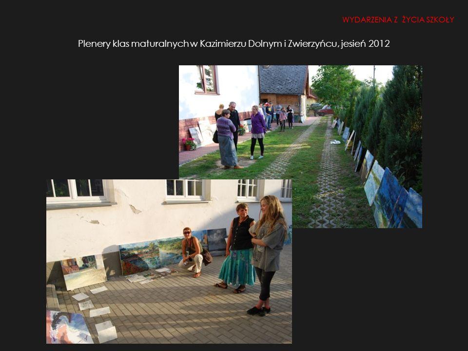 Plenery klas maturalnych w Kazimierzu Dolnym i Zwierzyńcu, jesień 2012