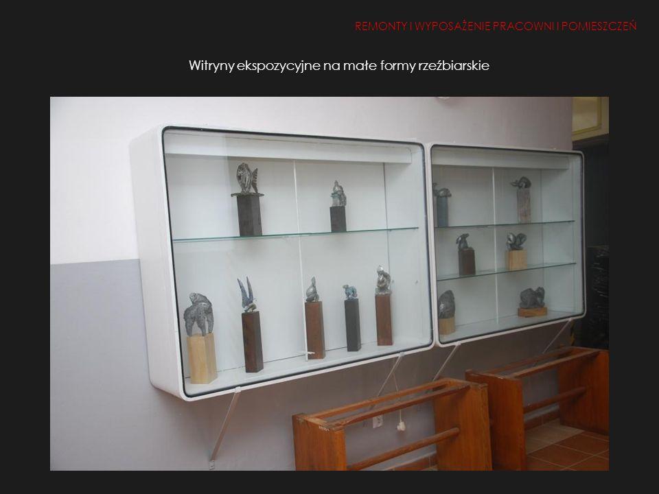 Witryny ekspozycyjne na małe formy rzeźbiarskie