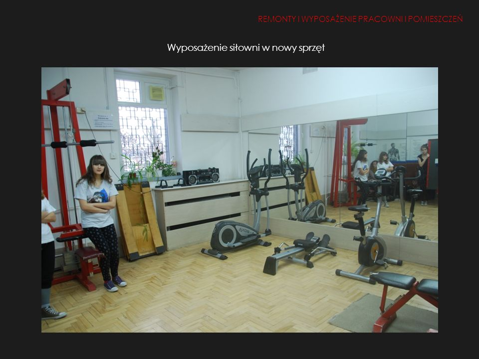 Wyposażenie siłowni w nowy sprzęt