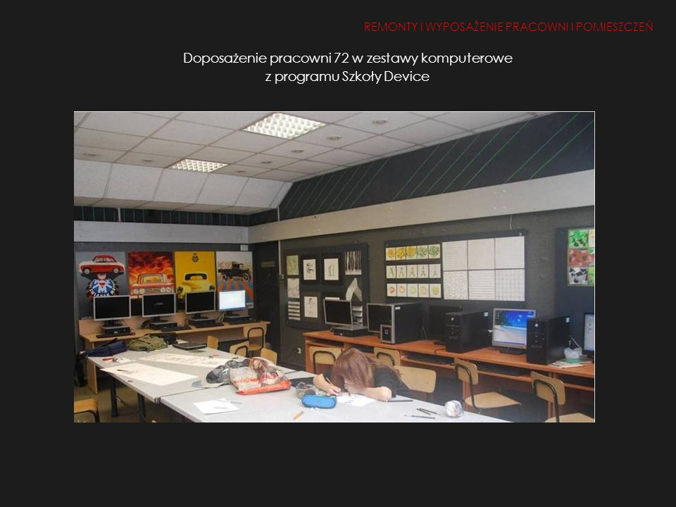 Doposażenie pracowni 72 w zestawy komputerowe z programu Szkoły Device