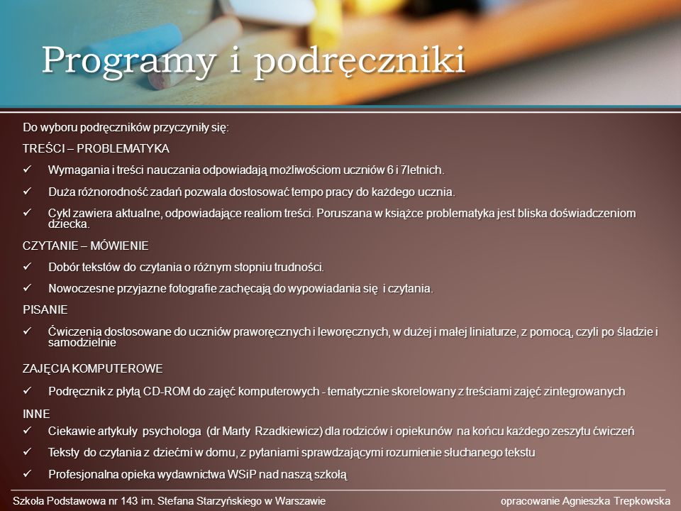 Programy i podręczniki