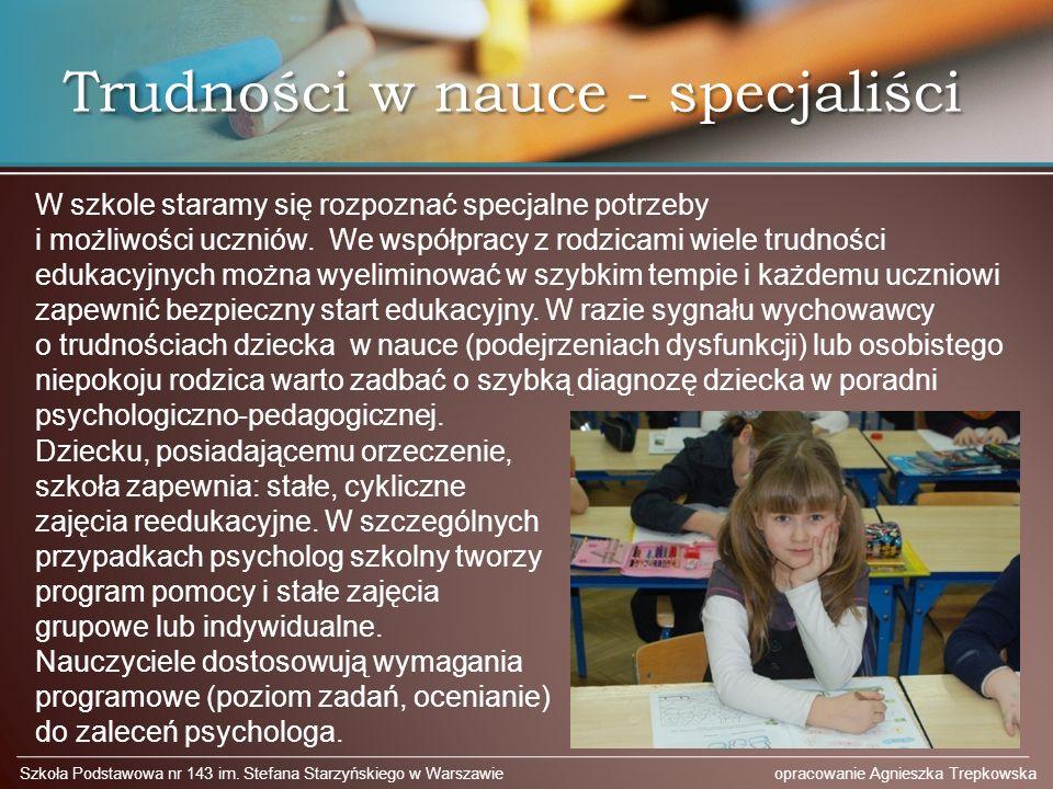 Trudności w nauce - specjaliści