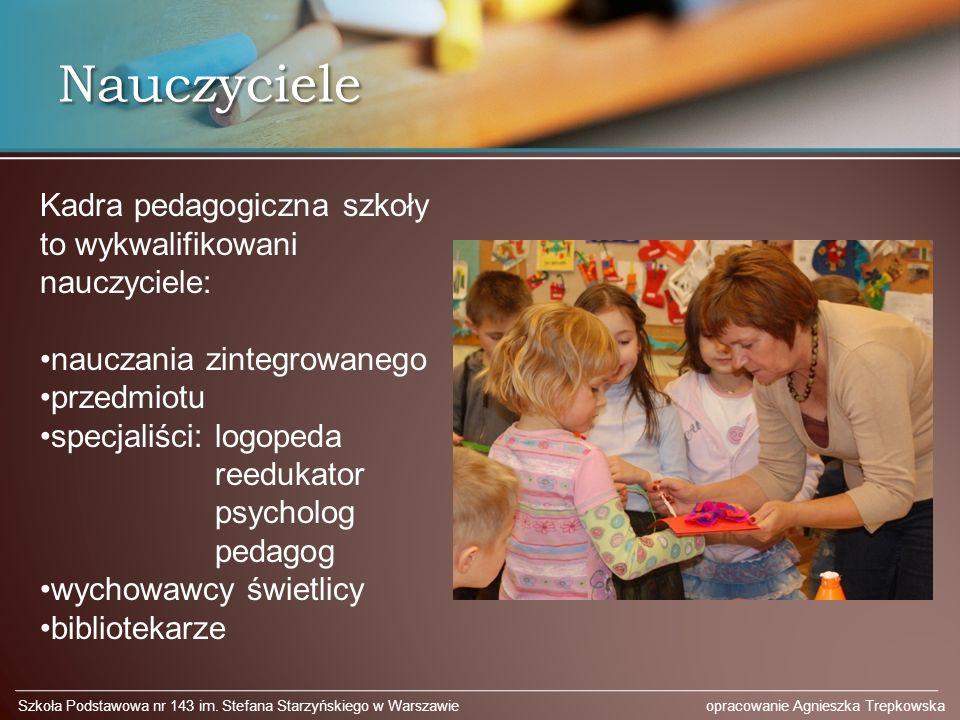 Nauczyciele Kadra pedagogiczna szkoły to wykwalifikowani nauczyciele: