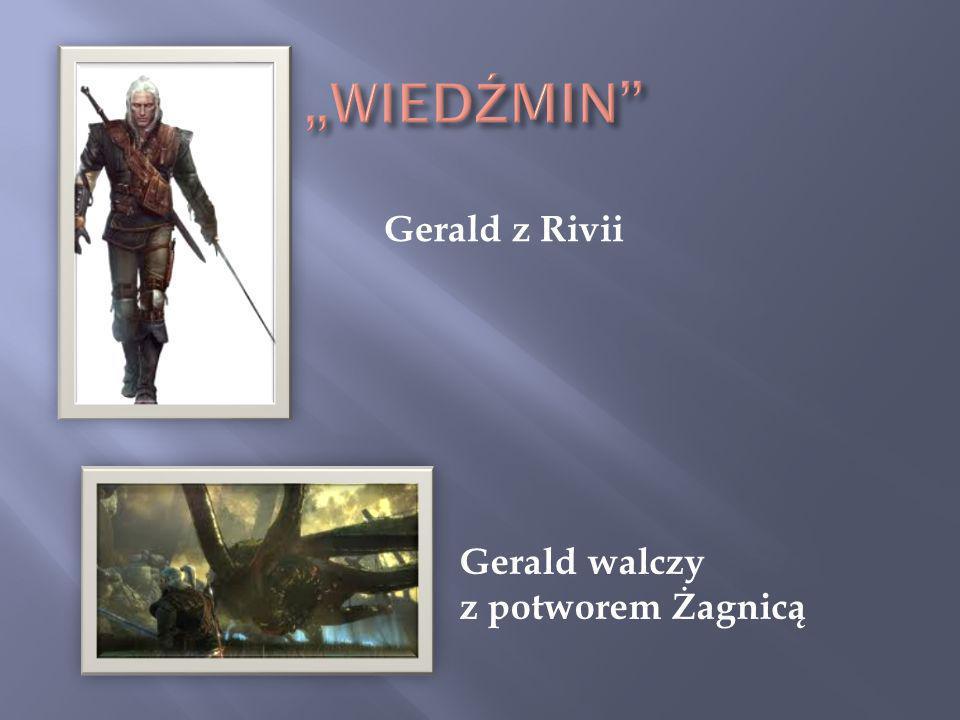"""""""WIEDŹMIN Gerald z Rivii Gerald walczy z potworem Żagnicą"""