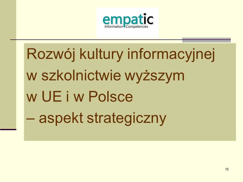 Rozwój kultury informacyjnej