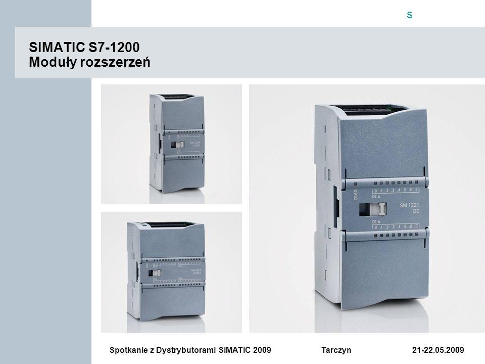 SIMATIC S7-1200 Moduły rozszerzeń
