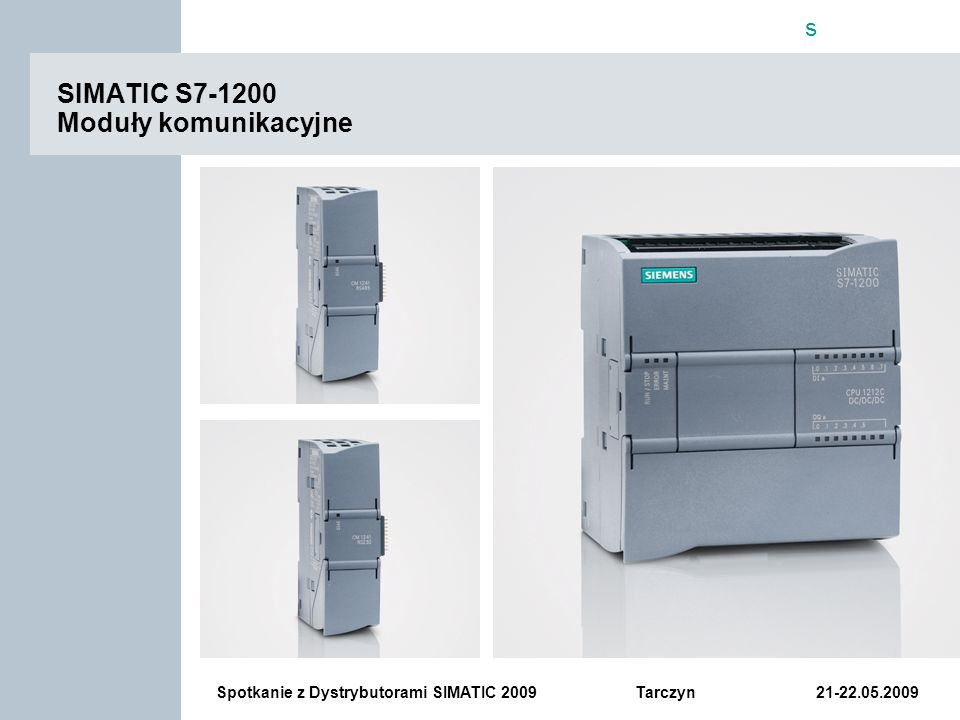 SIMATIC S7-1200 Moduły komunikacyjne