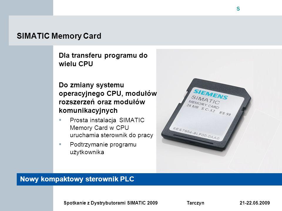 SIMATIC Memory Card Dla transferu programu do wielu CPU