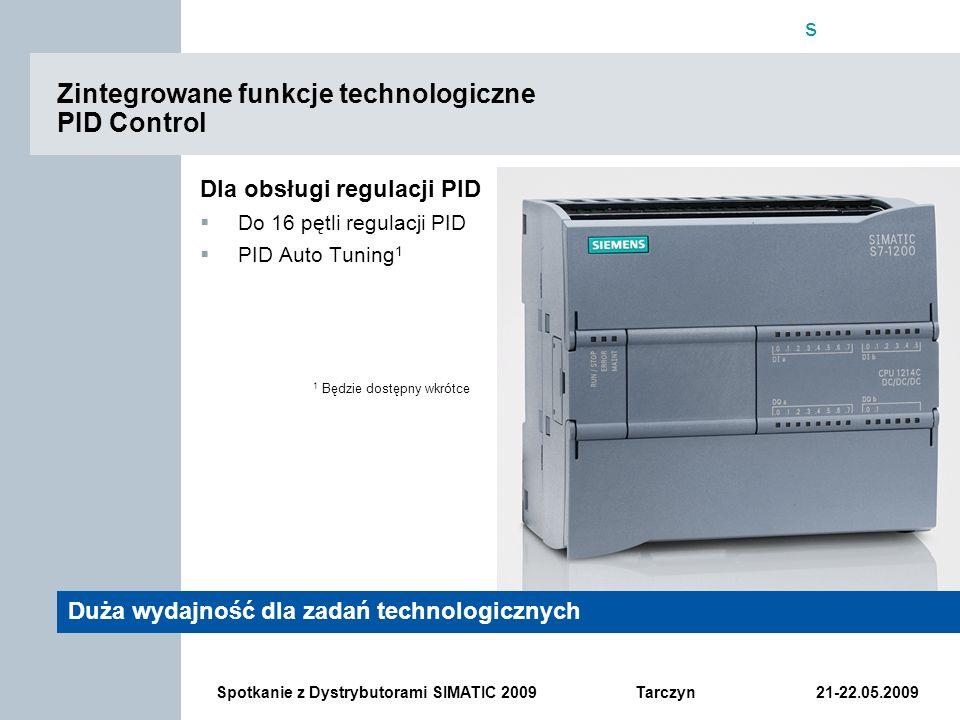 Zintegrowane funkcje technologiczne PID Control