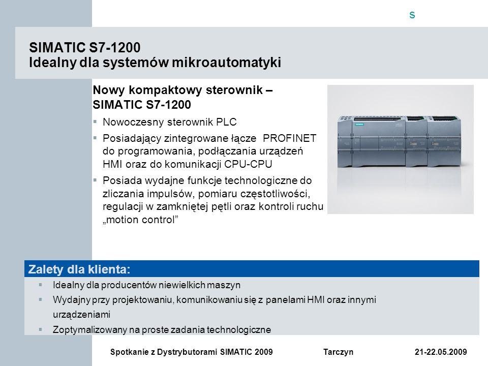 SIMATIC S7-1200 Idealny dla systemów mikroautomatyki