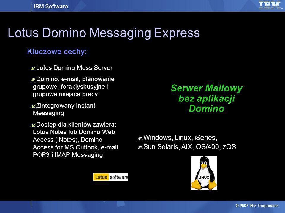 Lotus Domino Messaging Express