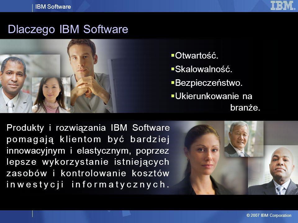 Dlaczego IBM Software Otwartość. Skalowalność. Bezpieczeństwo.