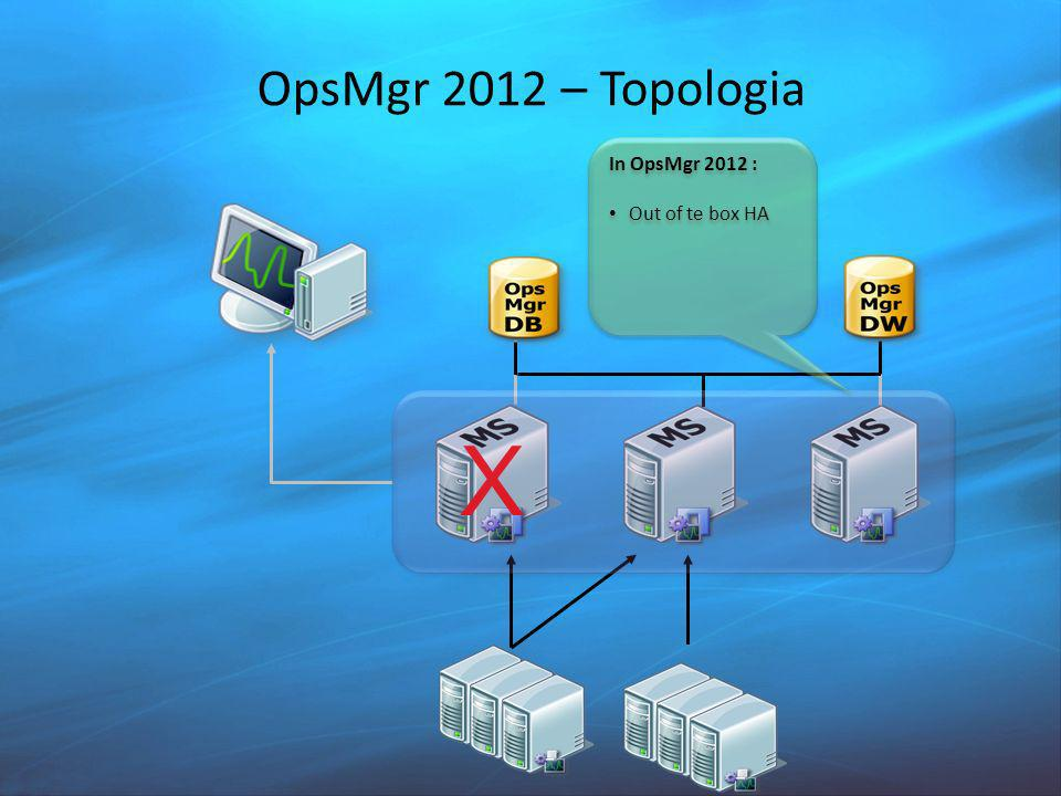 OpsMgr 2012 – Topologia In OpsMgr 2012 : Out of te box HA X