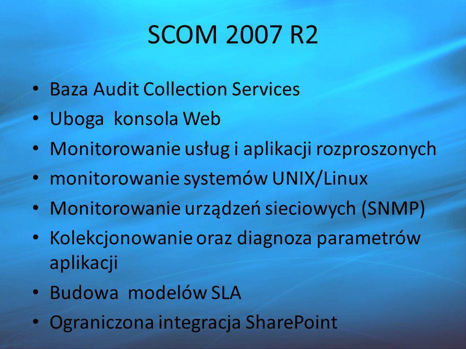 SCOM 2007 R2 Baza Audit Collection Services Uboga konsola Web