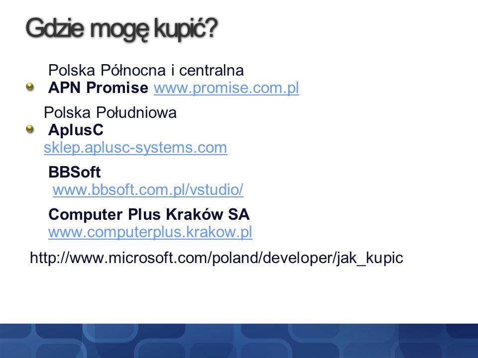 Gdzie mogę kupić http://www.microsoft.com/poland/developer/jak_kupic