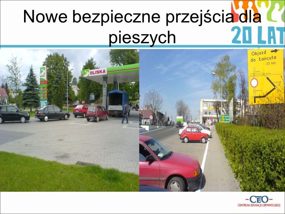 Nowe bezpieczne przejścia dla pieszych