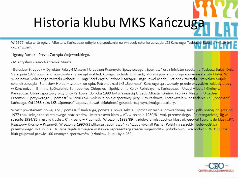 Historia klubu MKS Kańczuga