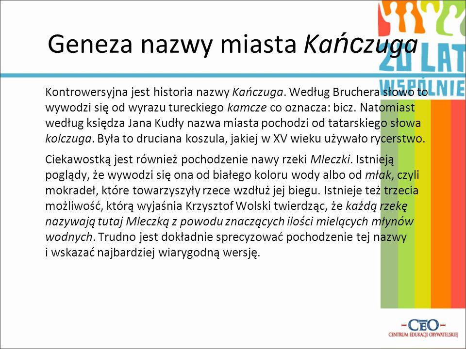 Geneza nazwy miasta Kańczuga