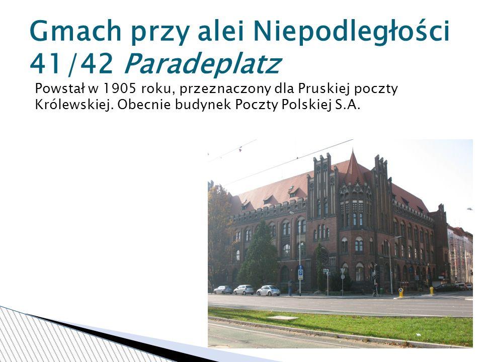 Gmach przy alei Niepodległości 41/42 Paradeplatz