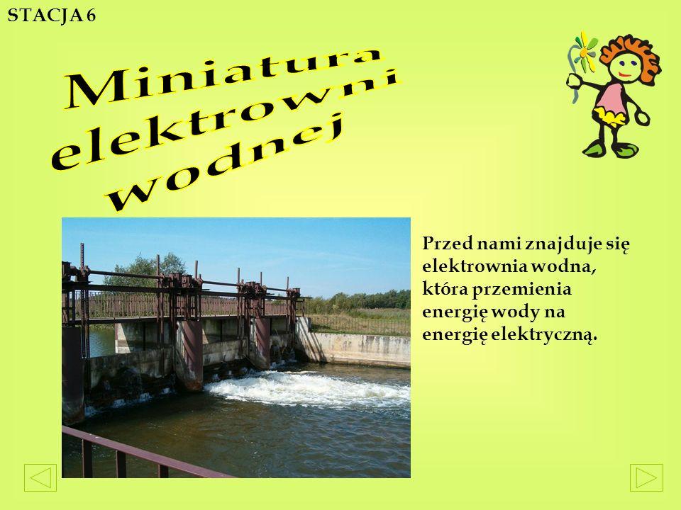 Miniatura elektrowni wodnej