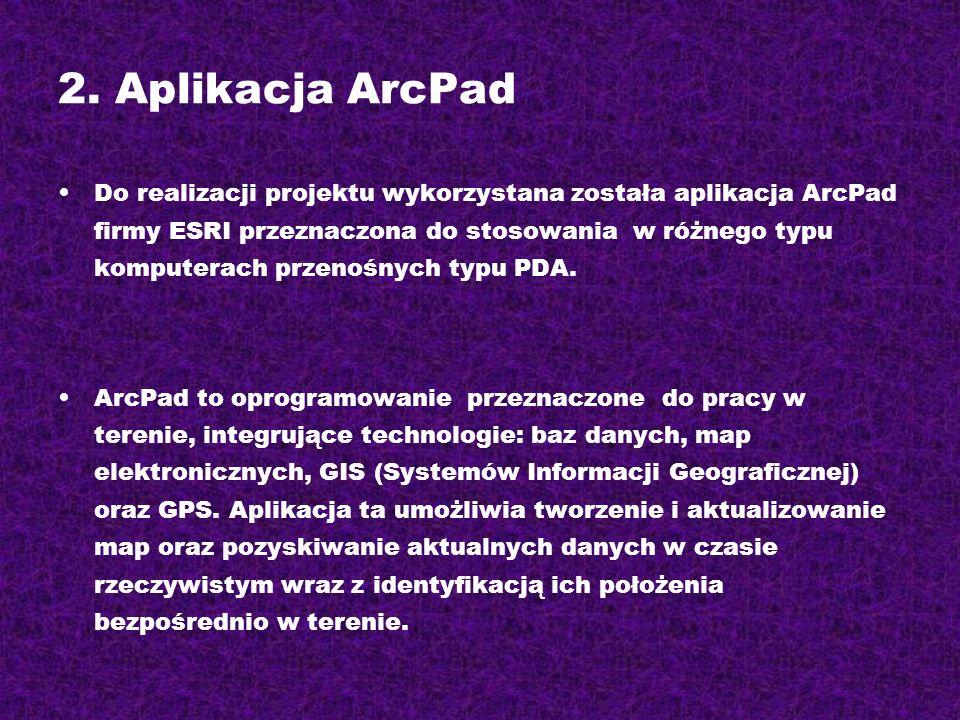 2. Aplikacja ArcPad