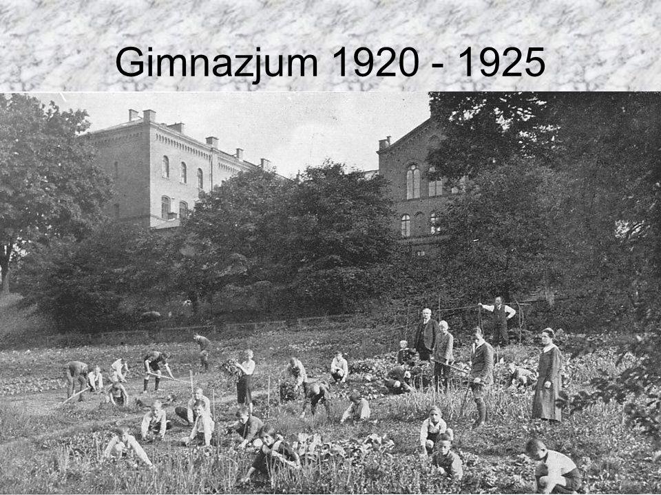Gimnazjum 1920 - 1925