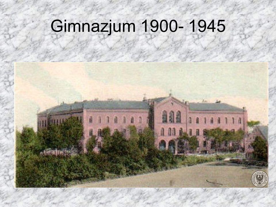 Gimnazjum 1900- 1945