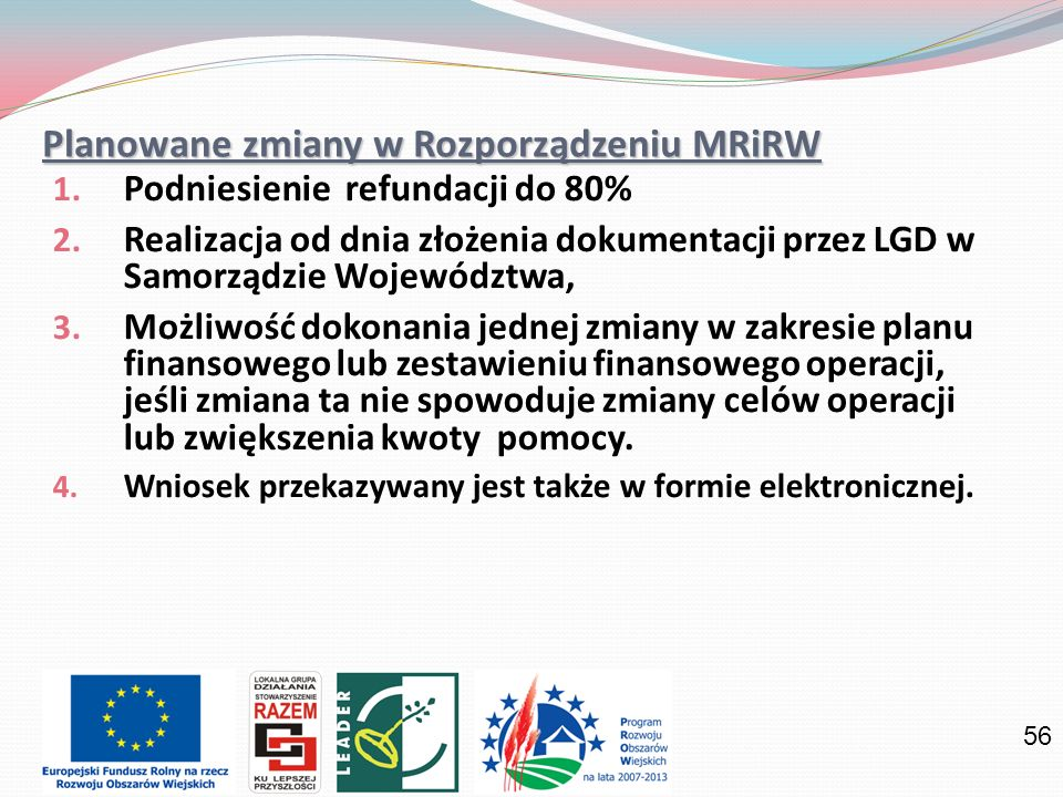 Planowane zmiany w Rozporządzeniu MRiRW