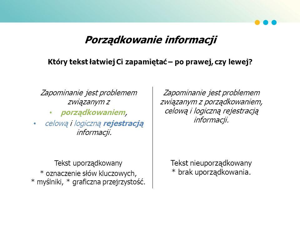 Porządkowanie informacji