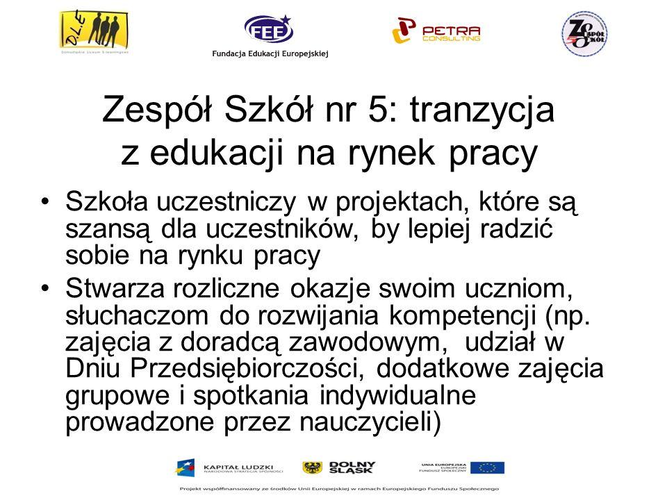 Zespół Szkół nr 5: tranzycja z edukacji na rynek pracy