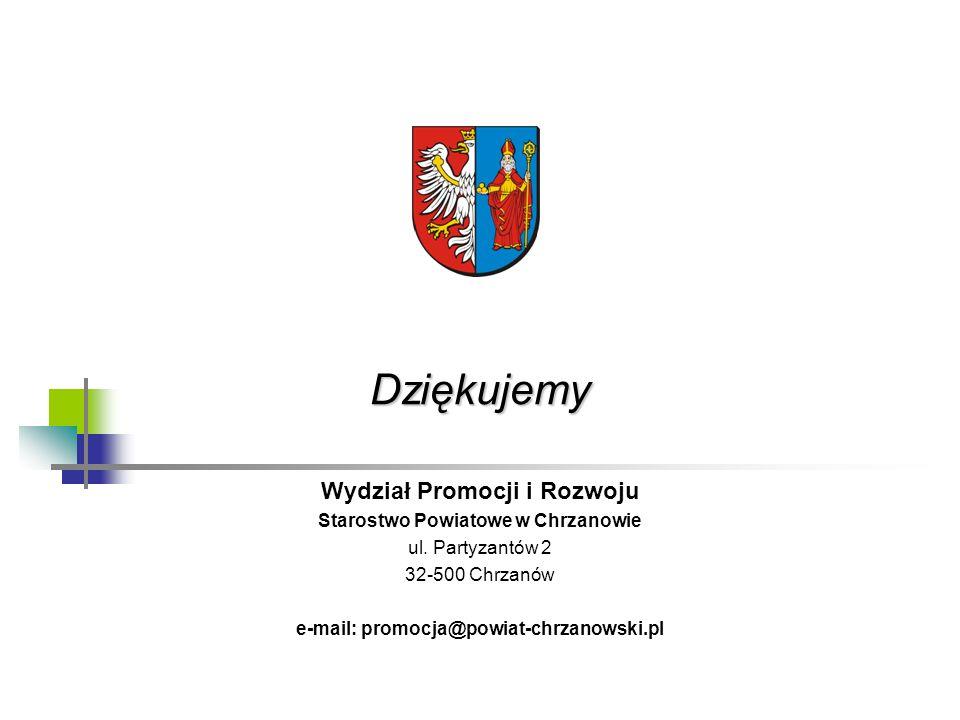 Dziękujemy Wydział Promocji i Rozwoju Starostwo Powiatowe w Chrzanowie