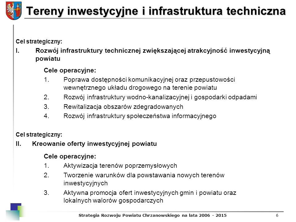 Tereny inwestycyjne i infrastruktura techniczna