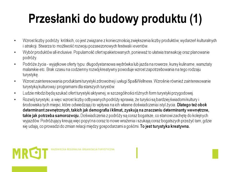 Przesłanki do budowy produktu (1)