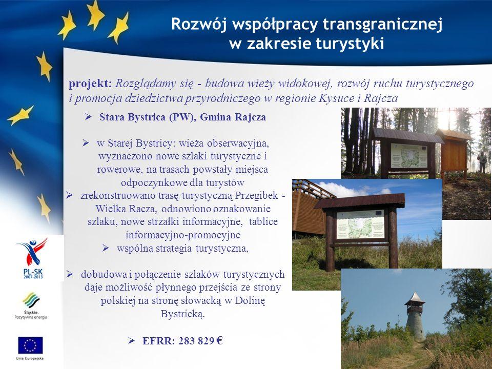 Rozwój współpracy transgranicznej Stara Bystrica (PW), Gmina Rajcza
