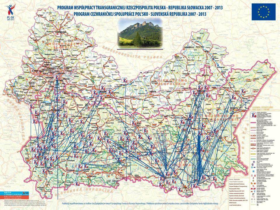 Utworzone w ramach Programu partnerstwa na polsko – słowackim pograniczu – I + II nabór