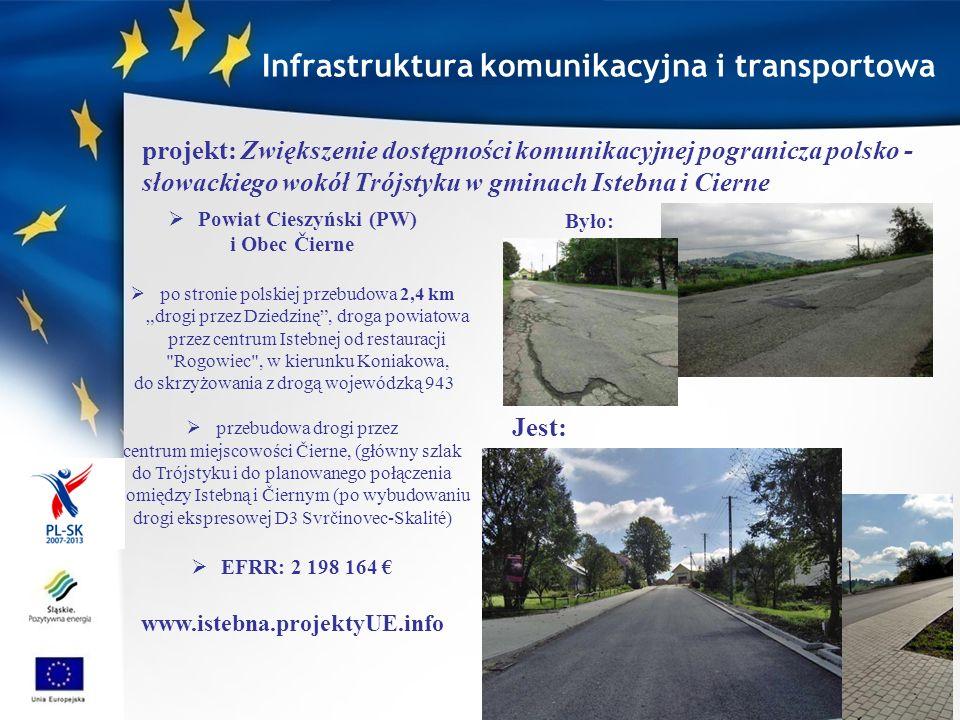 Infrastruktura komunikacyjna i transportowa Powiat Cieszyński (PW)