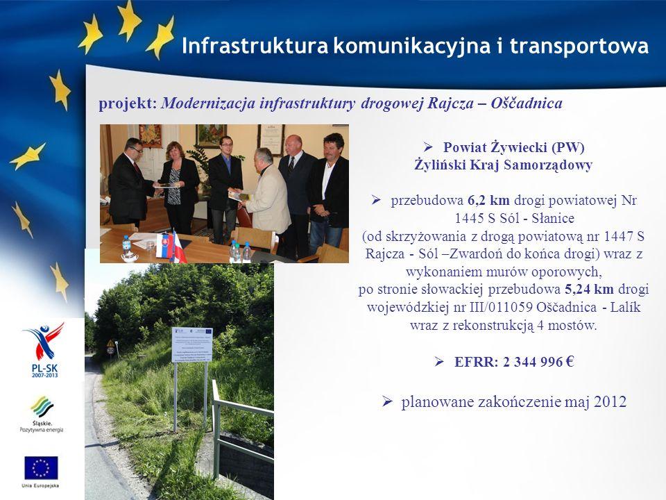 Infrastruktura komunikacyjna i transportowa Żyliński Kraj Samorządowy
