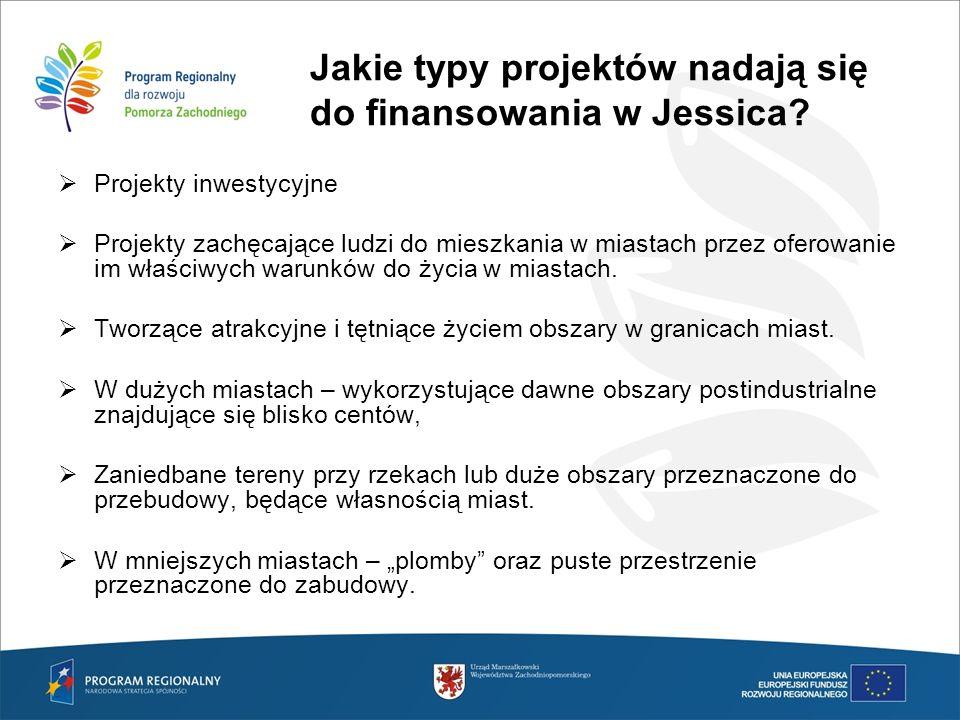 Jakie typy projektów nadają się do finansowania w Jessica