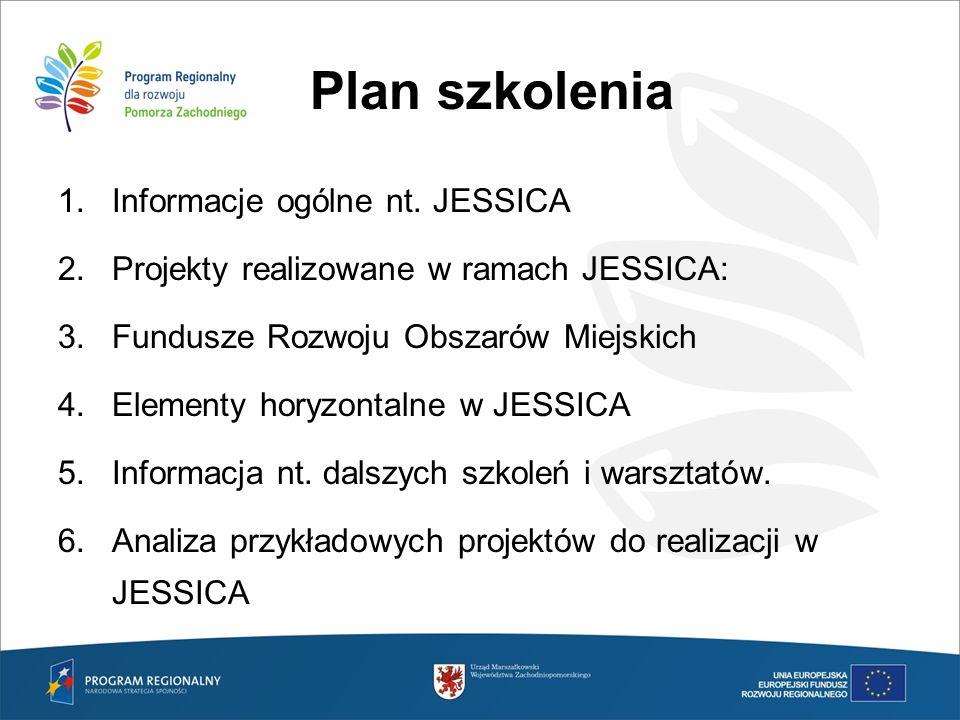 Plan szkolenia Informacje ogólne nt. JESSICA
