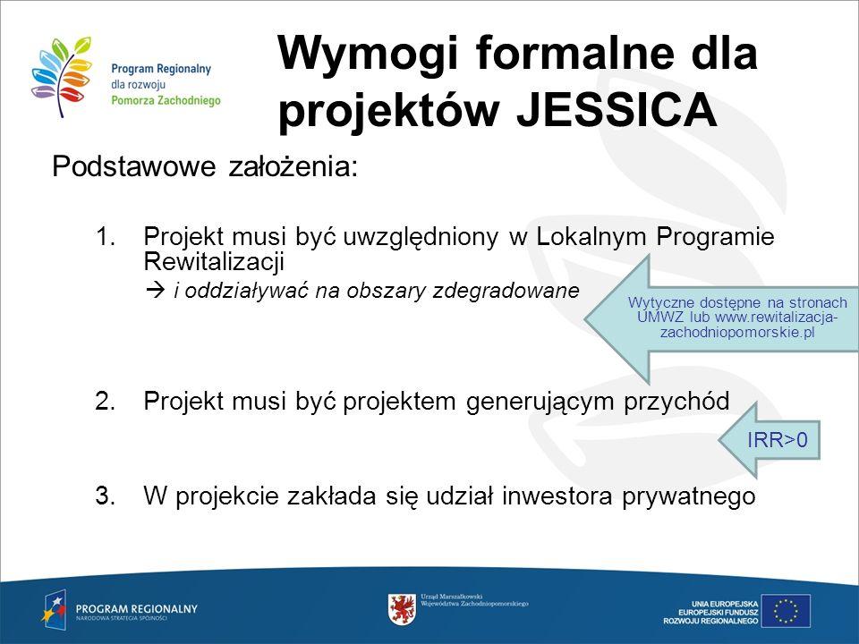 Wymogi formalne dla projektów JESSICA