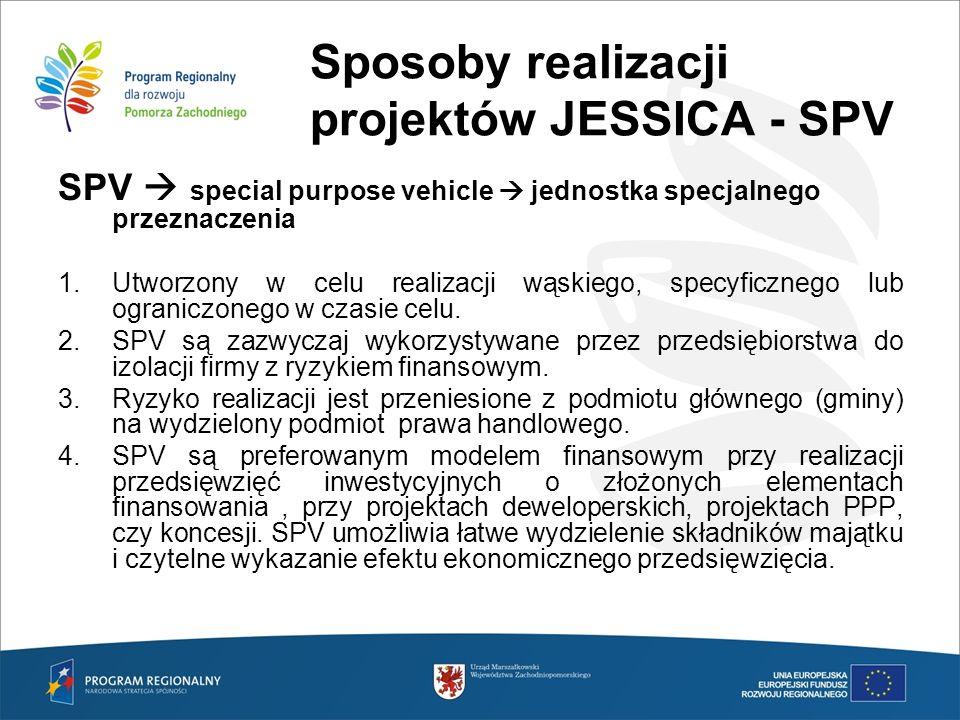 Sposoby realizacji projektów JESSICA - SPV