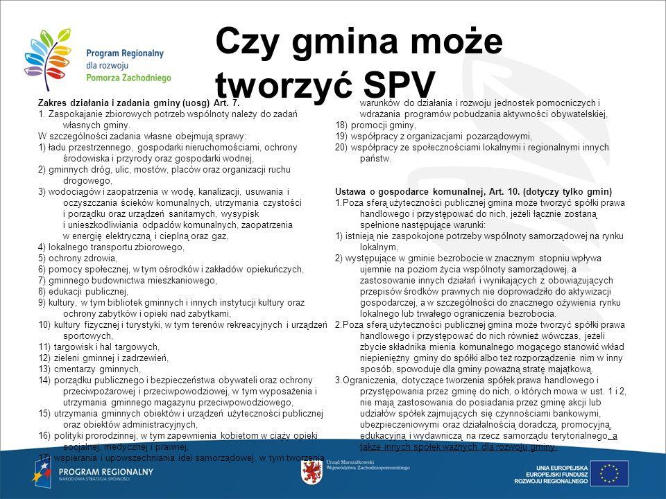 Czy gmina może tworzyć SPV