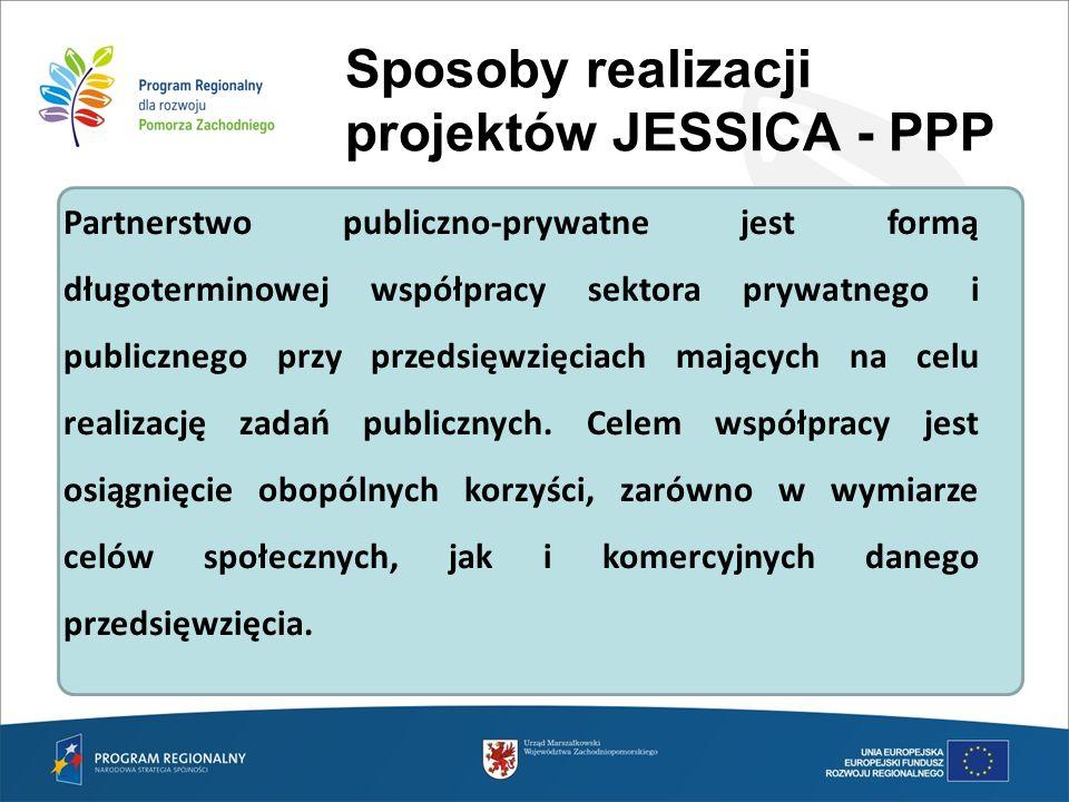 Sposoby realizacji projektów JESSICA - PPP