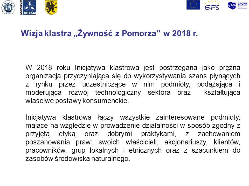 """Wizja klastra """"Żywność z Pomorza w 2018 r."""