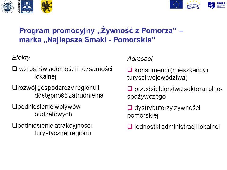 """Program promocyjny """"Żywność z Pomorza – marka """"Najlepsze Smaki - Pomorskie"""