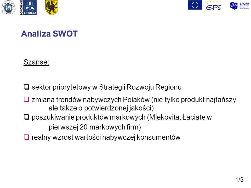 Analiza SWOT Szanse: sektor priorytetowy w Strategii Rozwoju Regionu